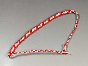 はしご模様ミサンガ 6本刺繍糸
