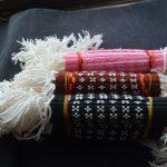 沖縄ミンサー柄ミサンガの新しいカラーパターン